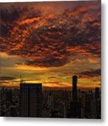 Bangkok Sunrise Metal Print
