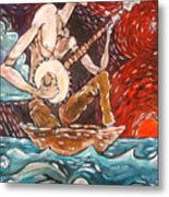 Banjo Sailor Metal Print