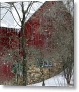 Bank Barn Metal Print