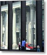 Bank Of Montreal Reflection Metal Print