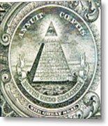 Banknote Detail Metal Print