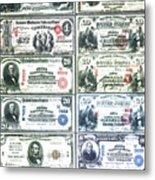 Banknotes Metal Print