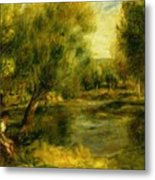 Banks Of The River Metal Print
