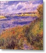 Banks Of The Seine At Champrosay Metal Print