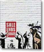 Banksy - Saints and Sinners   Metal Print