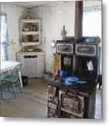 Bannack Ghost Town  Kitchen And Stove - Montana Territory Metal Print