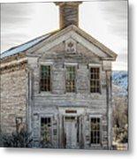 Bannack Schoolhouse And Masonic Temple Metal Print