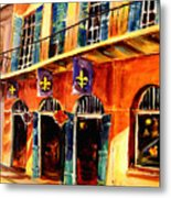 Banners On Royal Street Metal Print