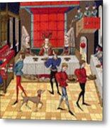 Banquet, 15th Century Metal Print
