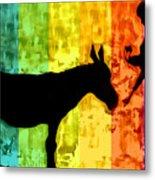Bansky In Colors Metal Print