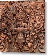 Banteay Srei Bas Relief Carvings - Cambodia Metal Print