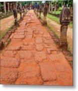 Banteay Srei Red Sandstone Road - Cambodia Metal Print