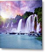 Banyue Waterfall Metal Print