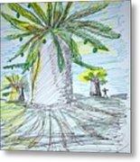Baobab Grove Metal Print