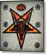 Baphomet - Satanic Pentagram - 666 Metal Print