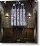 Baptismal Font - Church Of Heavenly Rest Metal Print