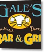 Bar And Grill Sign Metal Print