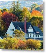 Bar Harbor Autumn House Metal Print