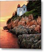 Bar Harbor Light House Metal Print