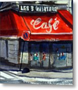 Bar Les 3 Quartiers Metal Print