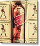 Bar Wall Art. Old Johnnie Walker Red Label Metal Print