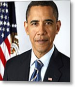 Barack Obama (1961- ) Metal Print by Granger