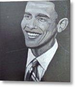 Barack Obama Metal Print by Richard Le Page