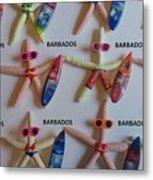 Barbados Starfish  Surfers Metal Print