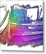 Barbara Cool Rainbow 3 Dimensional Metal Print