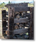 Barbed Wire Anchor Metal Print