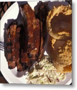 Barbeque Ribs Dinner At Sonny Bryans Metal Print