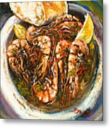 Barbequed Shrimp Metal Print by Dianne Parks