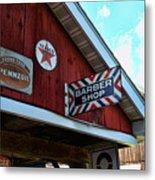 Barber - Old Barber Shop Sign Metal Print