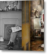 Barber - Our Family Barber 1935 - Side By Side Metal Print