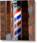Barber Pole Metal Print