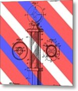 Barber Pole Patent Metal Print