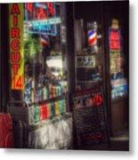 Barber Shop - Haircut 14 Dollars Metal Print