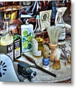 Barber Shop Tools Metal Print
