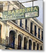 Barberia Konfort Metal Print