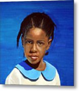 Barbuda School Girl Metal Print