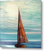 Barca Al Chiar Di Luna Metal Print