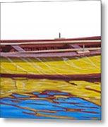 Barca Amarilla Metal Print