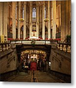 Barcelona Cathedral High Altar And St Eulalia Crypt Metal Print
