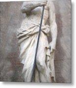 Barcelona - Neptune Statue Metal Print
