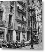 Barcelona Scooters Metal Print