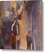 Barcelona Shadows Metal Print