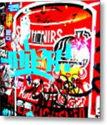 Barcelona Street Graffiti Metal Print by Funkpix Photo Hunter