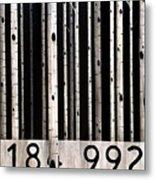 Barcode #19 Metal Print