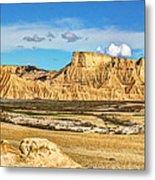 Bardenas Desert Panorama 3 Metal Print