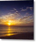 Barefoot Beach Preserve Sunset Metal Print